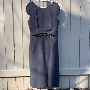 Givenchy Paris Blue Leather/Jewel Dress Size 40